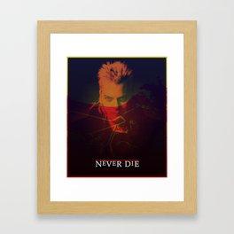 Motorcycle Never Dies Framed Art Print