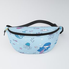 Little Blue Mermaid Fanny Pack