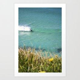 Bodyboarder Ocean Tamarama Art Print