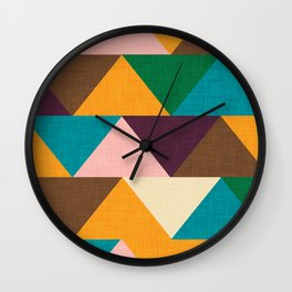 Kilim Chevron Wall Clock