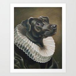 Portrait of a Young Doggo Art Print