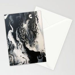 Black and White Marble Stationery Cards