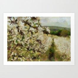 Apple Blossom Bliss Art Print