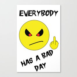Bad Day Smiley Canvas Print