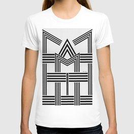 Black and White M T-shirt