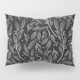 Flora Black 005 Pillow Sham
