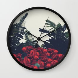 Red-Passion of Nature Wall Clock