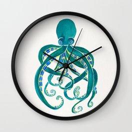 Watercolor Octopus Wall Clock