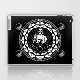 Buddha Black & White Yin & Yang Flower Of Life Laptop & iPad Skin