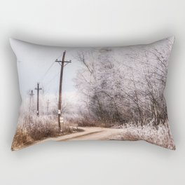 Winter in the village Rectangular Pillow
