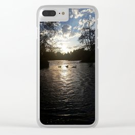 Ducky Summer Clear iPhone Case