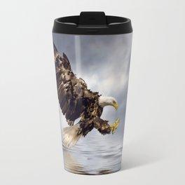Young Bald Eagle Swooping Travel Mug