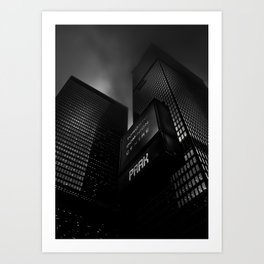 Downtown Toronto Fogfest No 16 Art Print