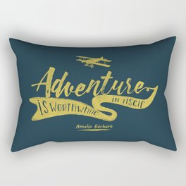 Adventure quote 2.2 Rectangular Pillow