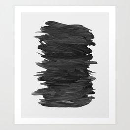 Abstract Minimalism #2 #minimal #ink #decor #art #society6 Art Print