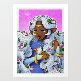Allura flowers Art Print