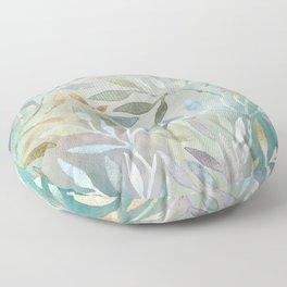 Painted Leaves Floor Pillow