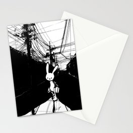 minima - beta bunny / noir Stationery Cards