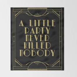 A little party - black glitz Throw Blanket