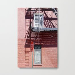 Stop in the shadows NYC Metal Print