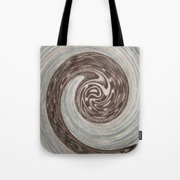 Brown Swirl Abstrect Tote Bag