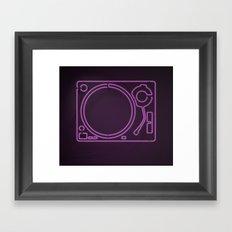 Neon Turntable 1 - 3D Art Framed Art Print