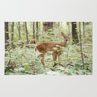 fawn Area & Throw Rugs featuring Fawn by SarahSeeley