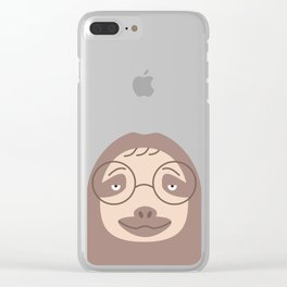 Sluggish Sloth Clear iPhone Case