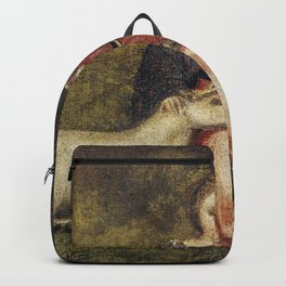 Lady with Unicorn foal Backpack