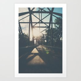 crossing the Mississippi ... Art Print