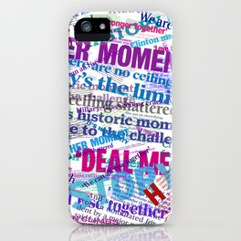 Hillary 2016 Abstract Headline Collage iPhone Case
