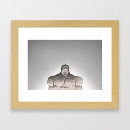 Shoulders Framed Art Print