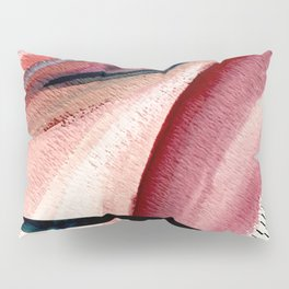 Rollercoaster - a vibrant, mixed media abstract piece in blues, pinks, and purples Pillow Sham