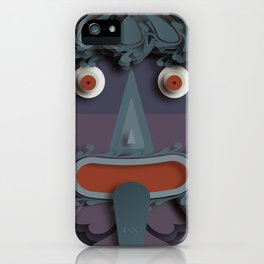 A Green Man that's Purple iPhone Case