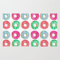 donuts Area & Throw Rugs featuring donuts by katelyndee