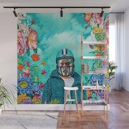 Floral American Football Wall Mural