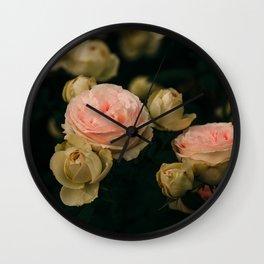 Korean Roses Wall Clock