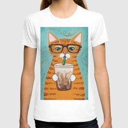 Iced Coffee Cat T-shirt