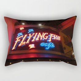The Flying Fish Cafe Sign Rectangular Pillow