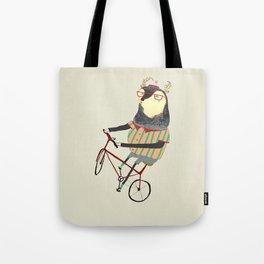 Deer on Bike.  Tote Bag