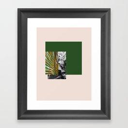 Gray and Green Framed Art Print