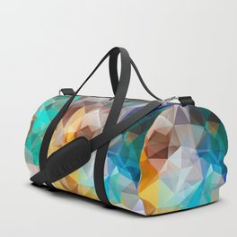 Blue yellow turquoise polygon Duffle Bag