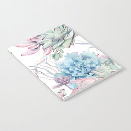 Pretty Pastel Succulents Garden 2 Notebook