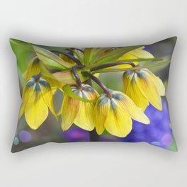Crown imperial flower (yellow, blue, orange) Rectangular Pillow