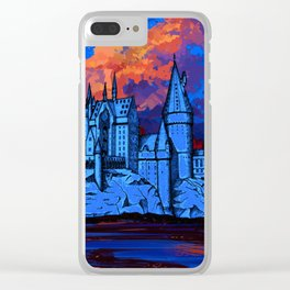 HOGWARTS CASTLE AT PAINTING Clear iPhone Case