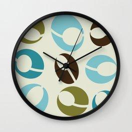 Mid-Century Modern Martini (teal) Wall Clock