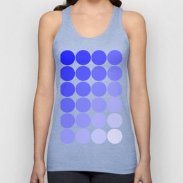 Indigo Circle Color Chart Unisex Tank Top