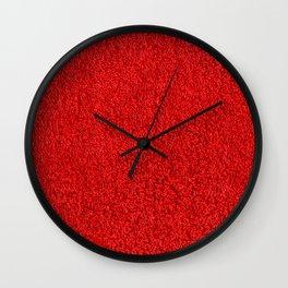 Blood Red Hotel Shag Pile Carpet Wall Clock