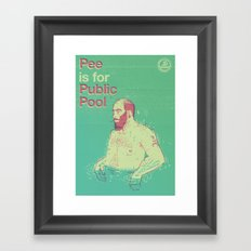 Pee is for Public Pool Framed Art Print