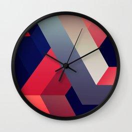 geometric abstract II Wall Clock